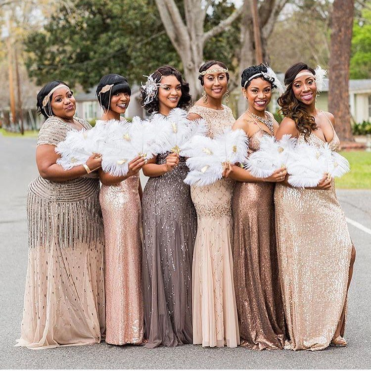 Gatsby Wedding Gown: These Maids Nailed The Great Gatsby Look! Create This