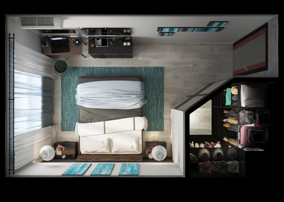 1 bedroom apartment floor plan pinterest schlafzimmer - Gestaltung ankleidezimmer ...