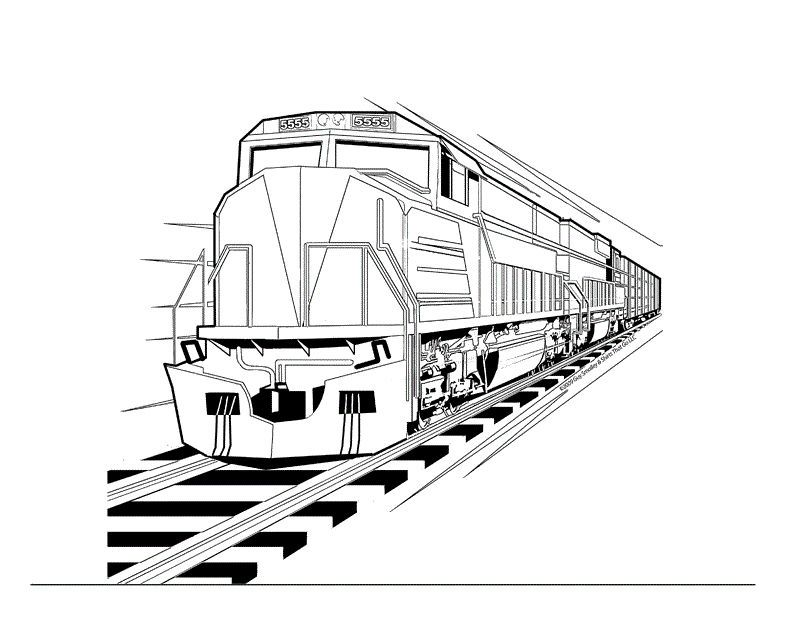 Train Color Pages In 2020 Train Coloring Pages Abstract