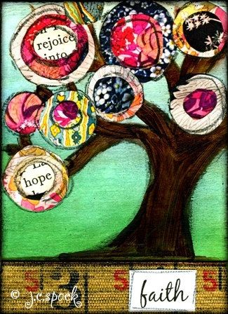 Mixed Media Art - Faith Tree ...BTW,Check this out: http://artcaffeine.imobileappsys.com