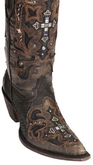 5faf2cc2e33 Corral Crystal Cross Python Cowgirl Boots - Pointed Toe - Sheplers ...