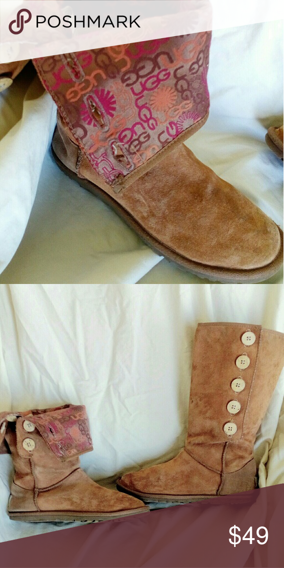 3d45012e9d9 AUTH UGG BOOTS logo and Beautiful unique Ugg boots. No inside fur ...