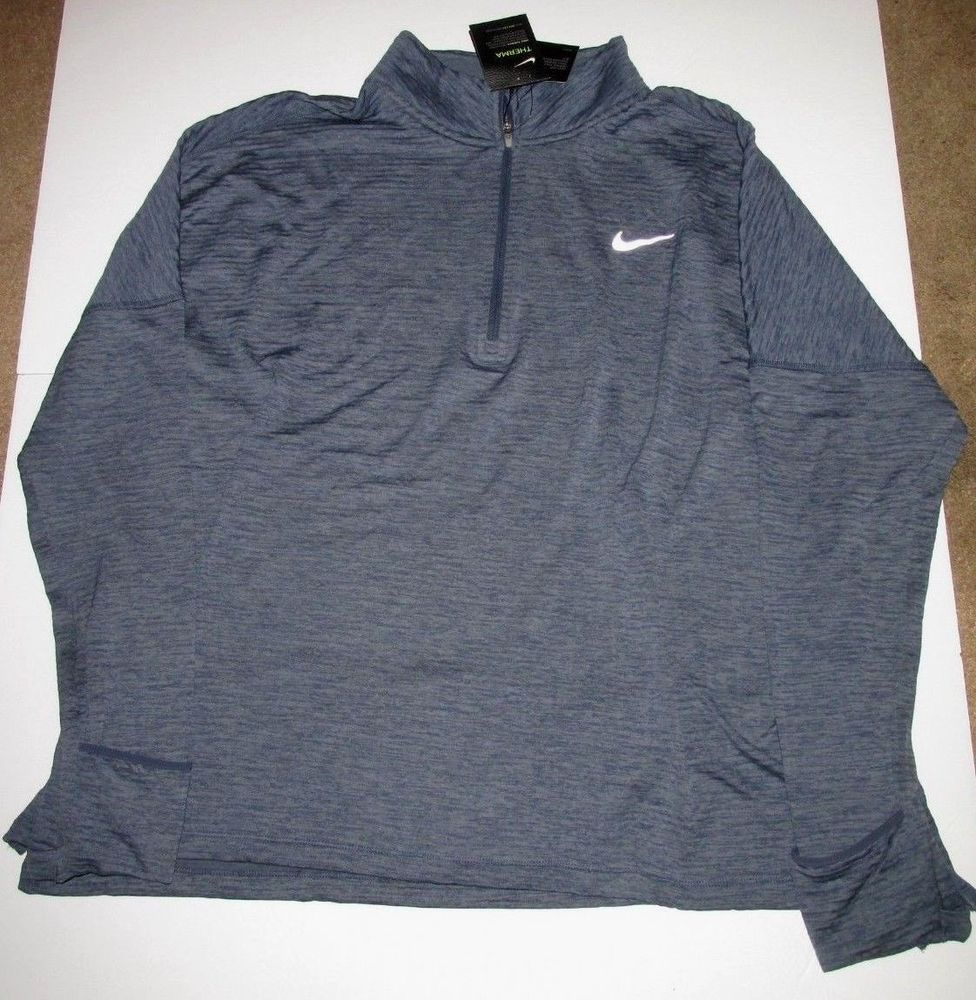 bac14c42b352 Nike Sphere Therma Element Half Zip Womens Pullover 2X Armory Blue 854515  471  Nike  ActivewearLongSleeve