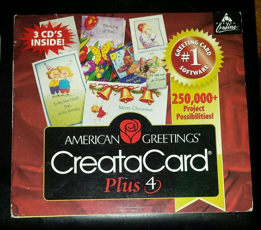 American greetings creatacard plus 4 cd pc computer 3 cds 250000 american greetings creatacard plus 4 cd pc computer 3 cds 250000 project possi m4hsunfo