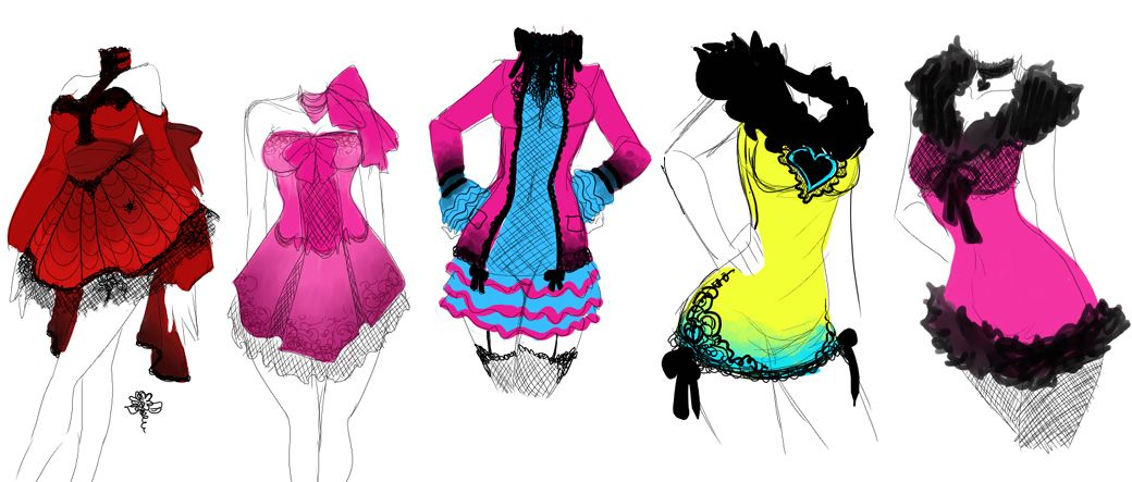 Anime Girl Clothes Designs Dress Designs By Zambicandy For