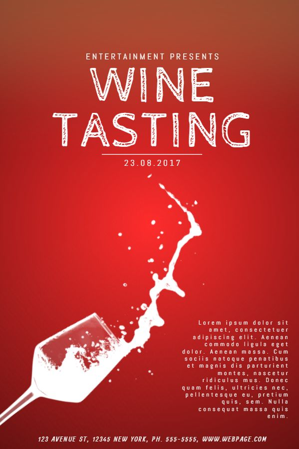 Wine Tasting Event Flyer Poster Social Media Design Template
