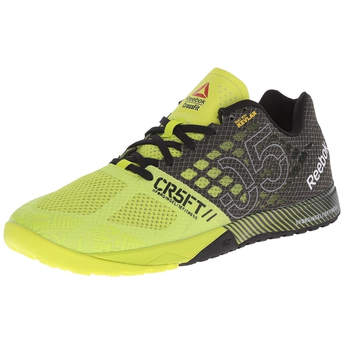 eab06dbe1e19fe Reebok Crossfit Nano 5 Womens Fitness Shoes Yellow Black Sneakers V65895