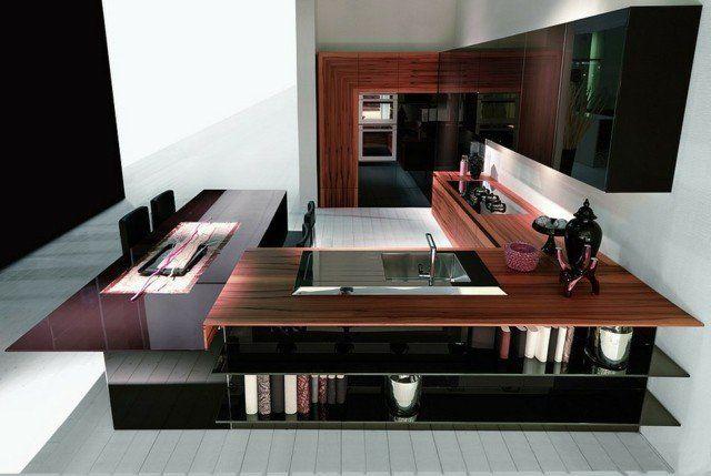 73 Idees De Cuisine Moderne Avec Ilot Bar Ou Table A Manger Kitchens