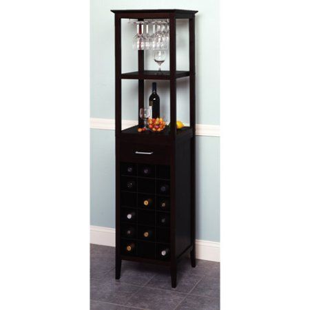 Free Shipping Buy 18 Bottle Wine Tower With Rack And Shelves At