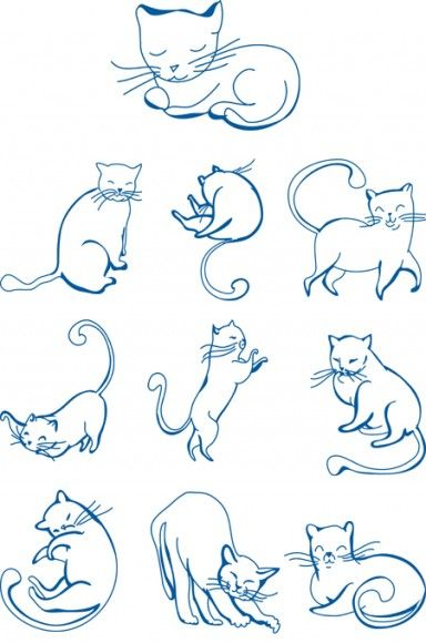 Cats Dogs Embroidery Designs Embroideryappliqu Cats