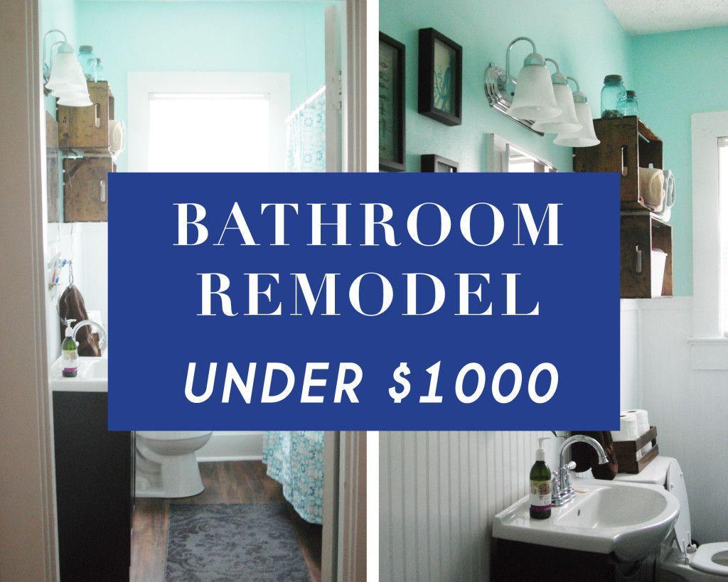 Our Bathroom Remodel For Under 1 000