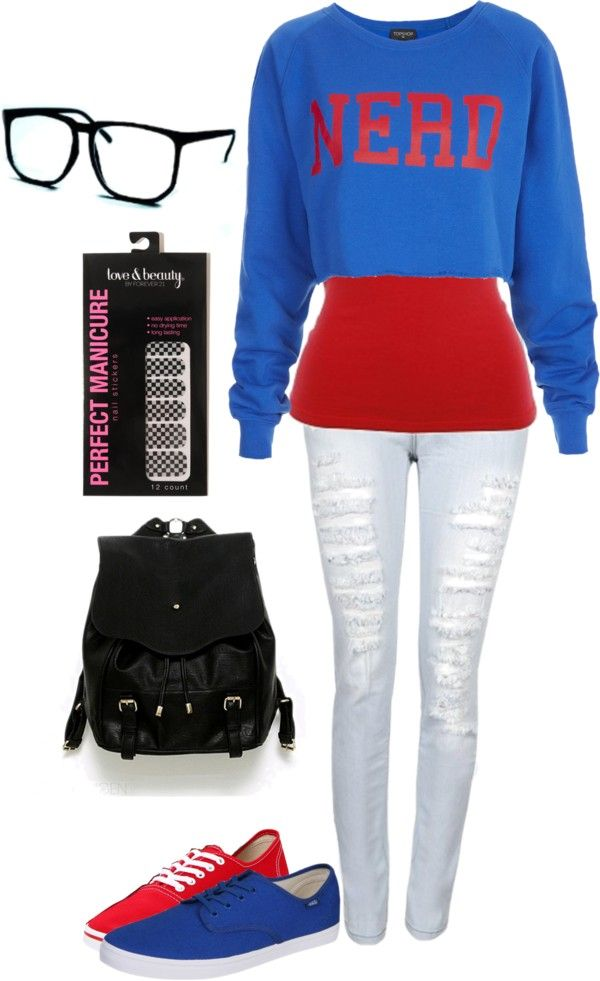 """""""Nerd"""" by blondeprincess623 ❤ liked on Polyvore"""