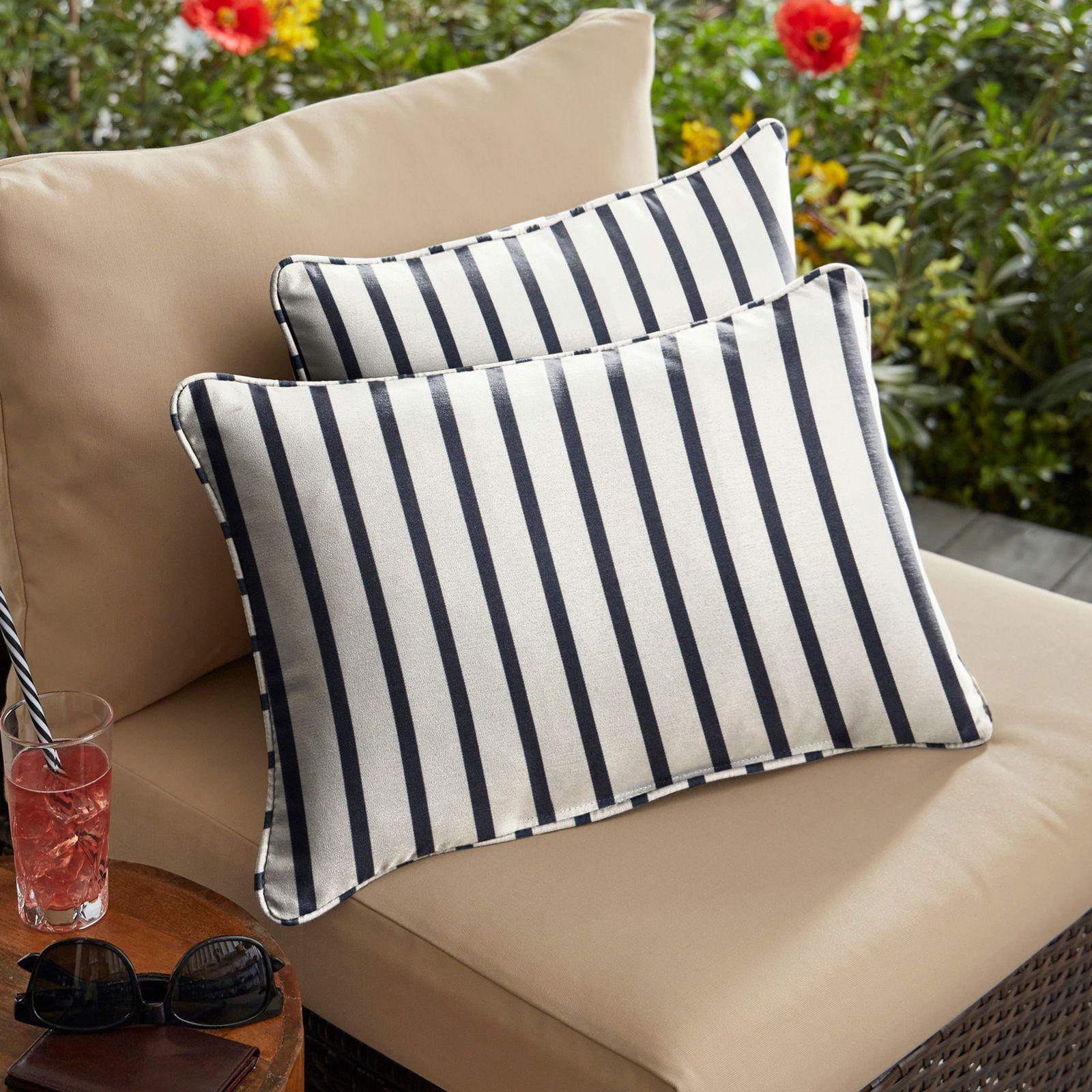 Sunbrella corded pillow in lido indigo set of home ideas