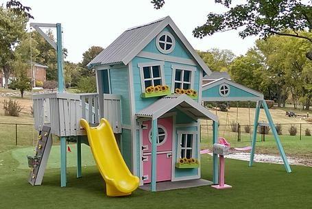 Cute playhouse! play structures Pinterest Casitas, Juego y Casas - casitas de jardin para nios