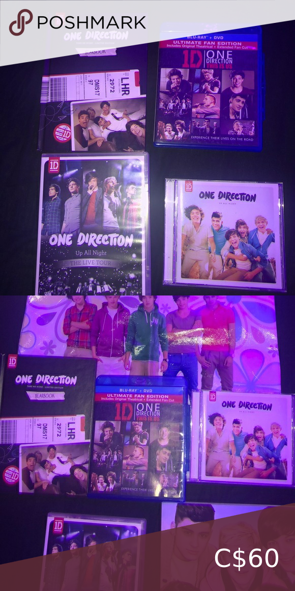 One Direction Bundle Package One Direction Bag Take Me Home Limited Edition Album Up All Night Album 1d T In 2020 One Direction Book Dream Book Bundle Package
