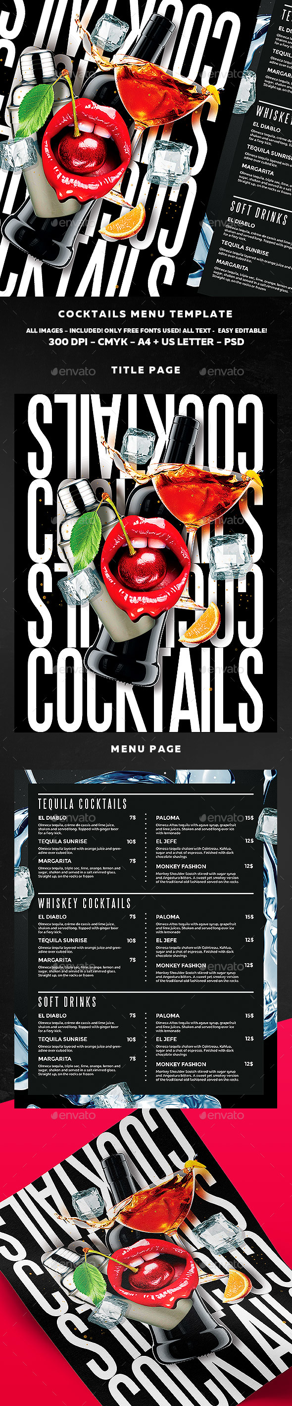 Cocktail Menu  Menu Restaurant Menu Templates And Drink Menu