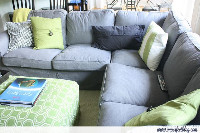 Review of Ektorp Sectional in Svanby Gray (which this fabric option ...