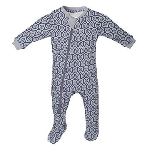 f4c3e3e6447c ZippyJamz Organic Baby Footed Sleeper Pajamas wInseam Zipper Drop ...