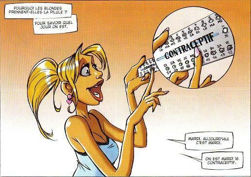 Contraception Blague De Blonde Le Blog De Sunsitari Blague De Blonde Blague Humour