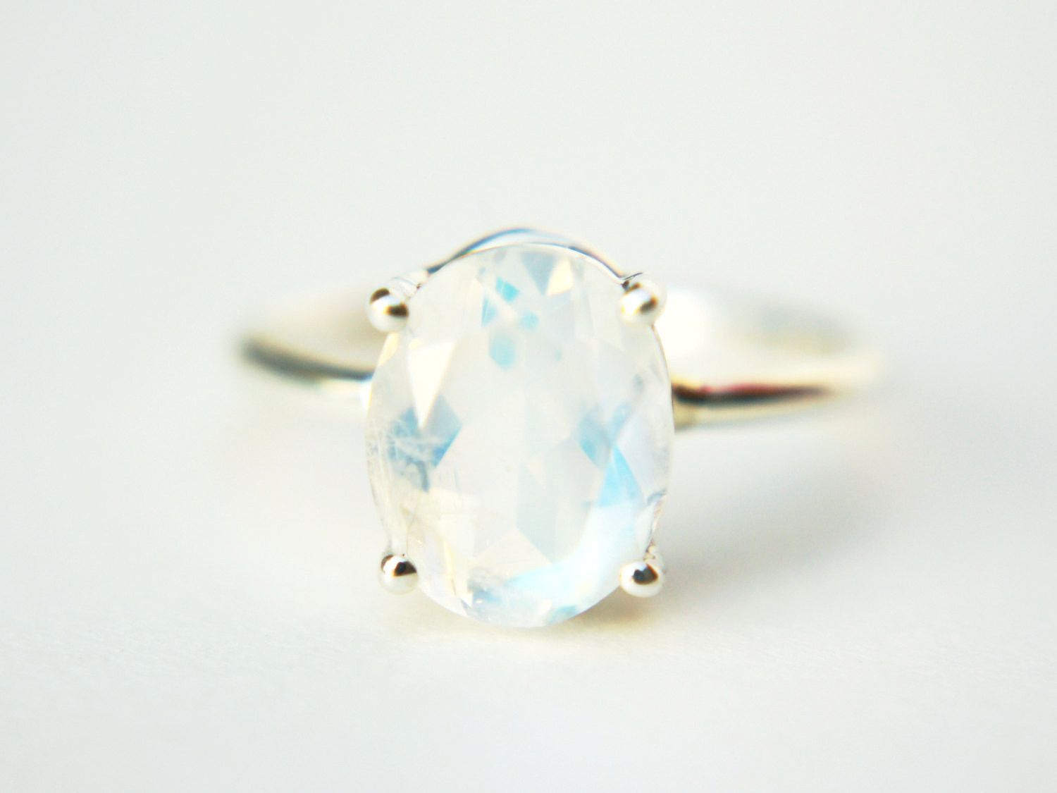 Oval faceted moonstone ring what a girl wants pinterest