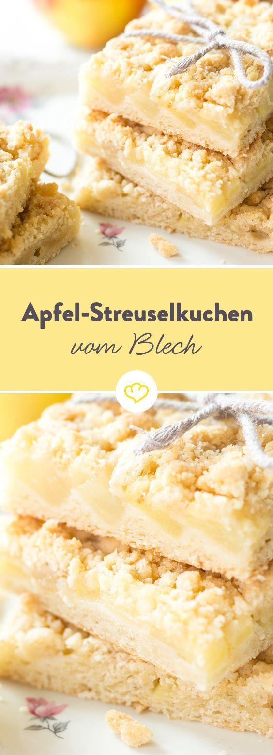 Apfelstreuselkuchen vom Blech: Lieblingsobst aus dem Ofen