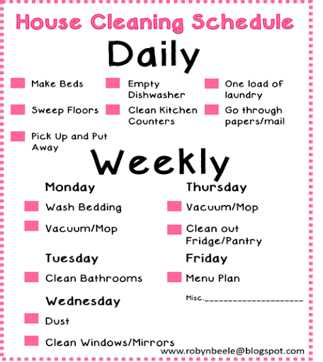 Living simple daily cleaning schedule clean pinterest for Minimalist house cleaning
