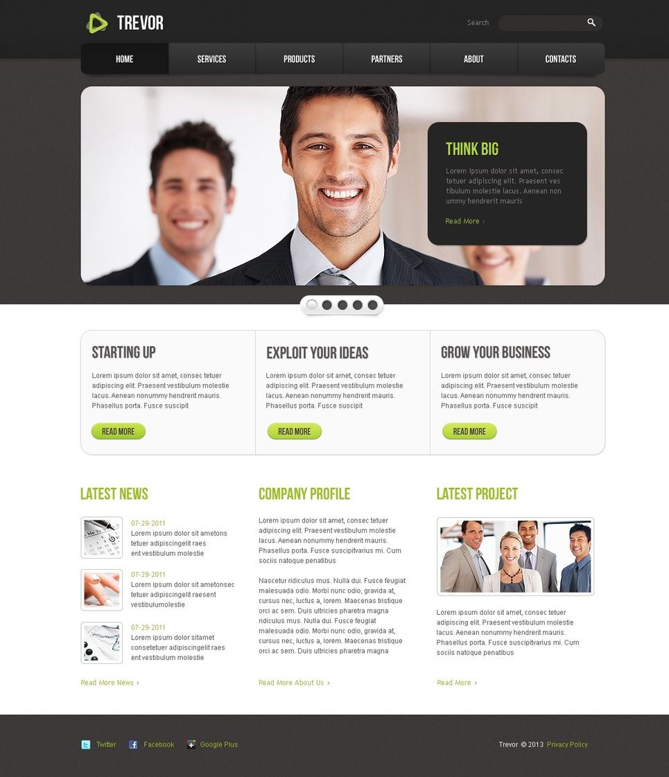 Creative Agency Website Homepage Free Psd: Advertising Agency PSD Template #42015