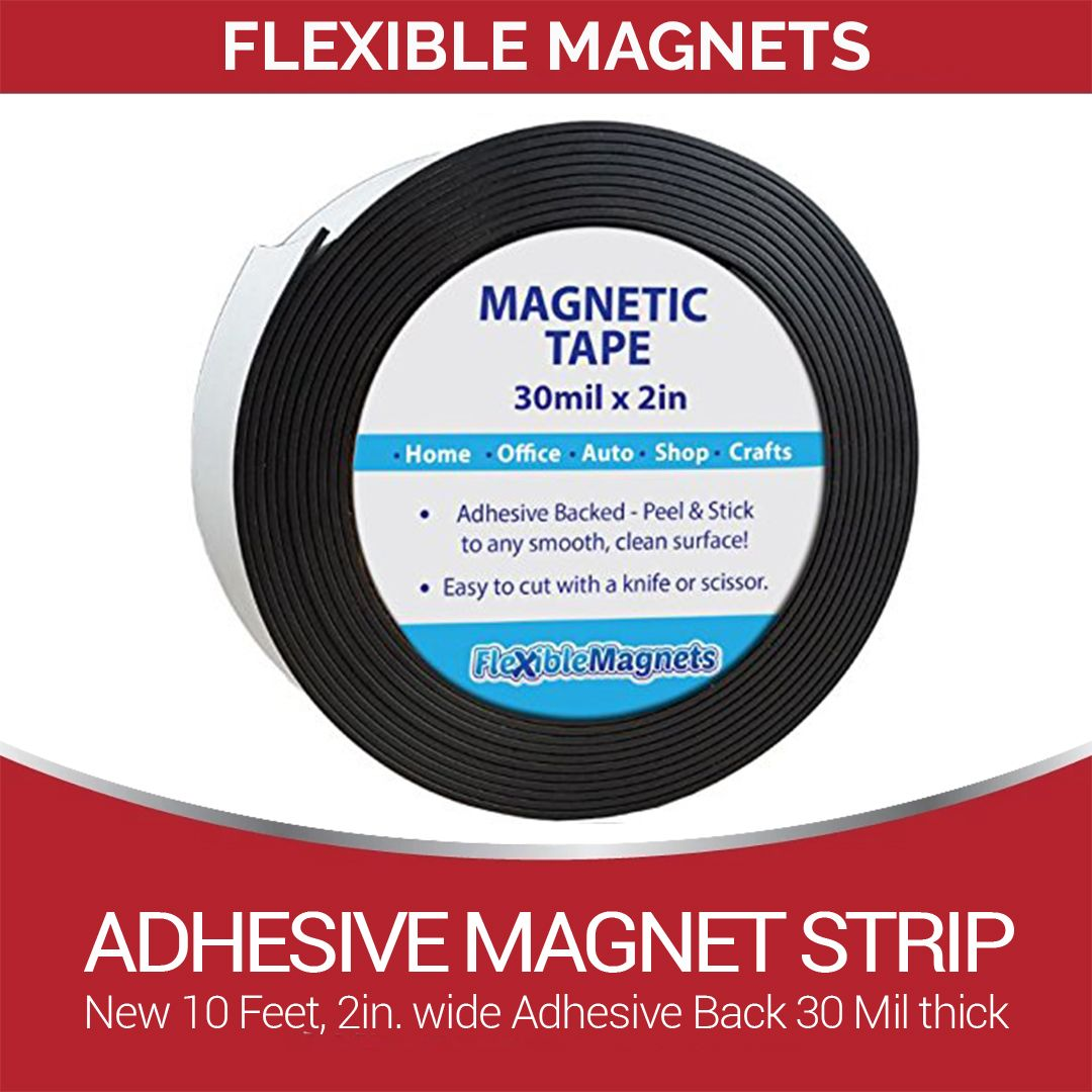Craft 1Inch x 21 Feet Flexible Magnetic Tape Blank Write On Magnets Sticker Labels Tape for Whiteboard Dry Erase Magnetic Strips Roll