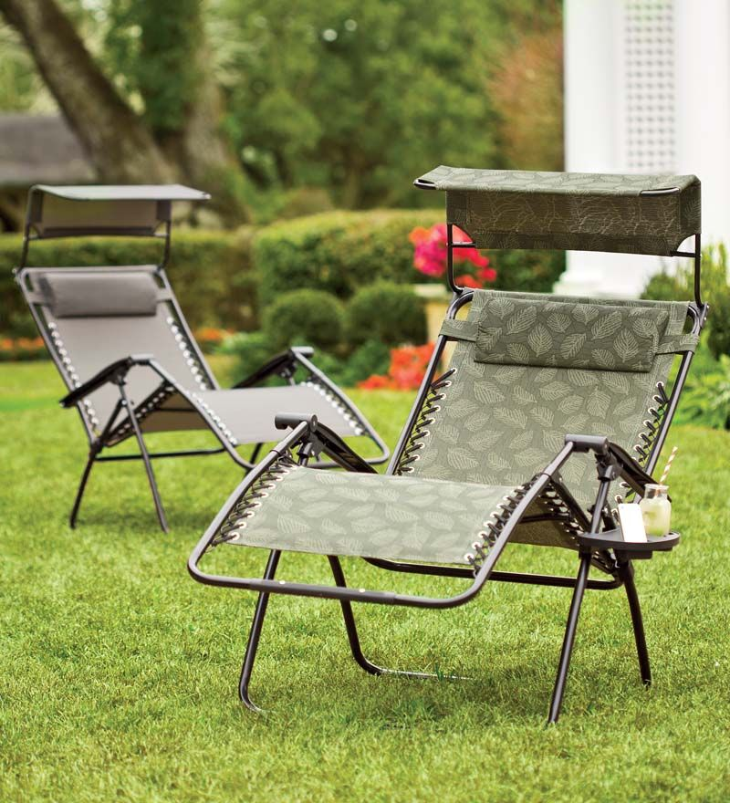 Deluxe Zero Gravity Chair With Adjustable Awning