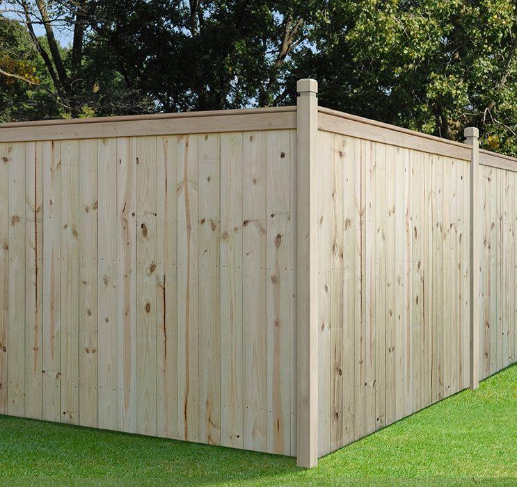 Outdoor Essential 6x8 Capped Stockade Private Fence Outdoor Essentials Fence Design Wood Fence