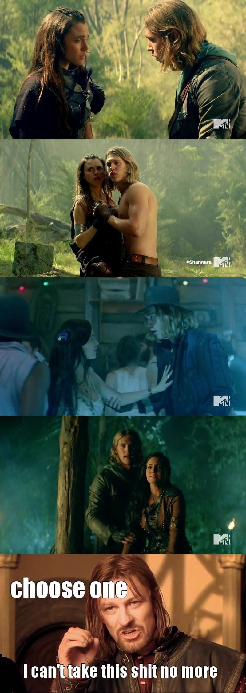 will Will ever make a choice? He kissed Amberle and then seemed jealous of Eretria  Stop it please