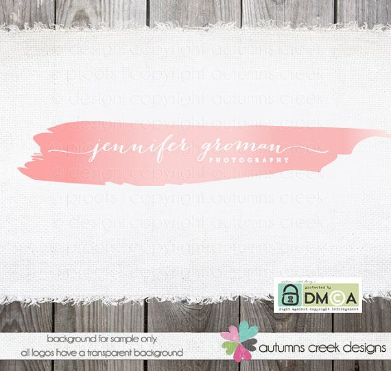 Premade Photography Logo Watercolor Ombre Brush By Autumnscreek