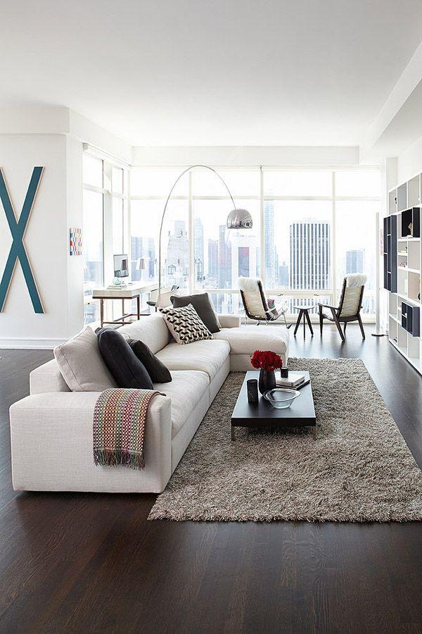 Modern Central Park Condo In Manhattan One Beacon Court Interior Design Living Room Modern Apartment Design Living Room Designs