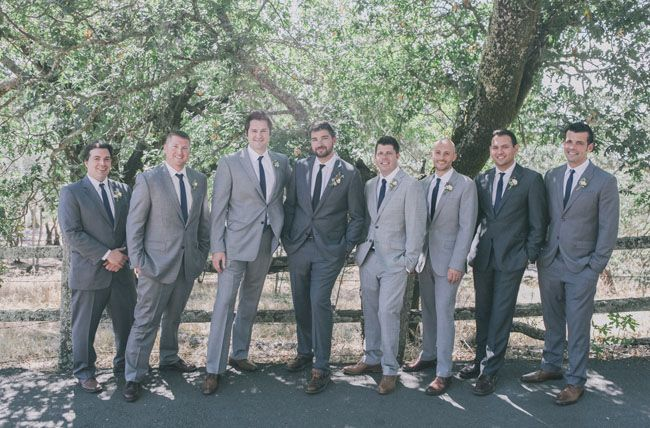 Different Shades Of Gray romantic vineyard wedding: mary + chris | grey weddings, wedding