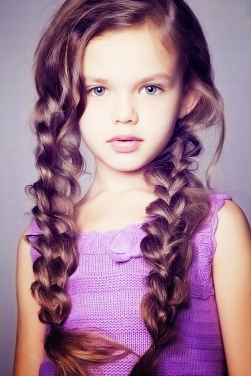 Braid, then pull and loosen. Suppose to work best if you loosen from bottom up. Cute. :-)