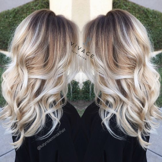Platinum Blonde Hair With Brown Roots