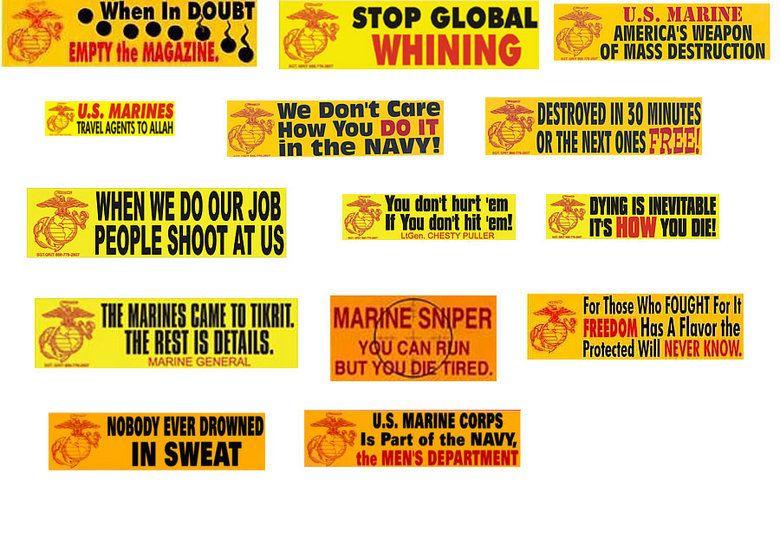 Funny marine corps bumper stickers