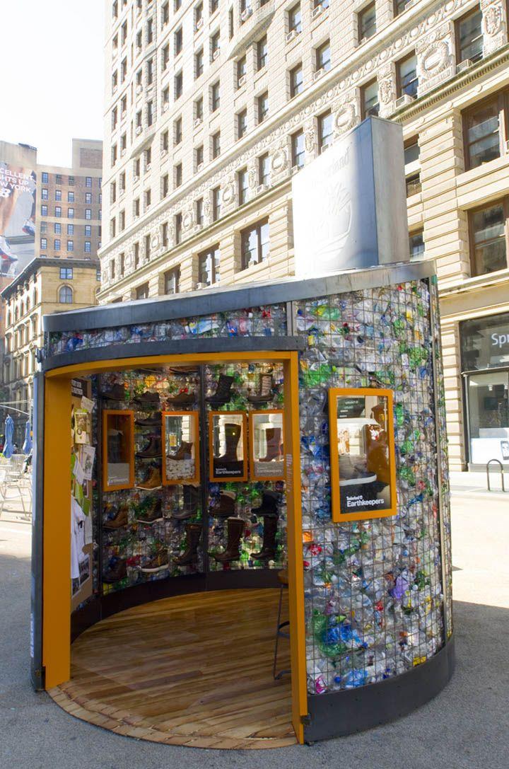 POP UP! Timberland Pop up shop, New York City pop-up store design. Better than a billboard! PopUp Republic