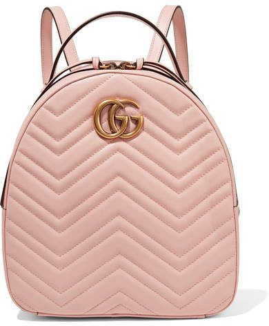 ea7d41f9fe44 Gucci - Gg Marmont Quilted Leather Backpack - Pastel pink #gucci #ShopStyle  #MyShopStyle click link for more information