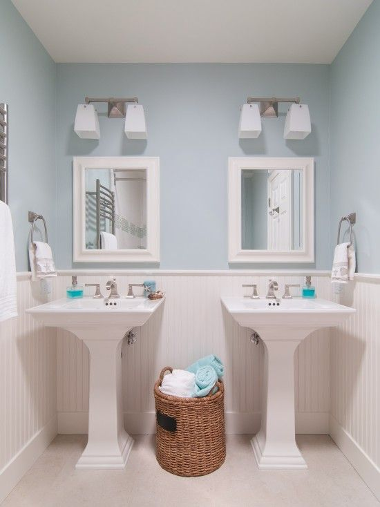Good Pedestal Sink Navy Blue Bathroom Design, Pictures, Remodel, Decor And Ideas    Page