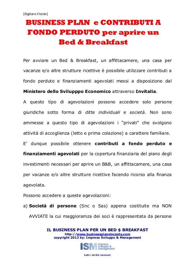 Business Plan Bed Breakfast Business Plan Pinterest - Bed and breakfast business plan template