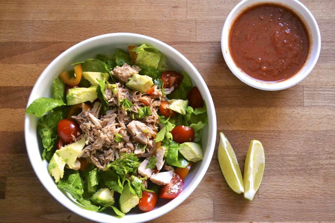 Refreshing Pulled Pork Salad