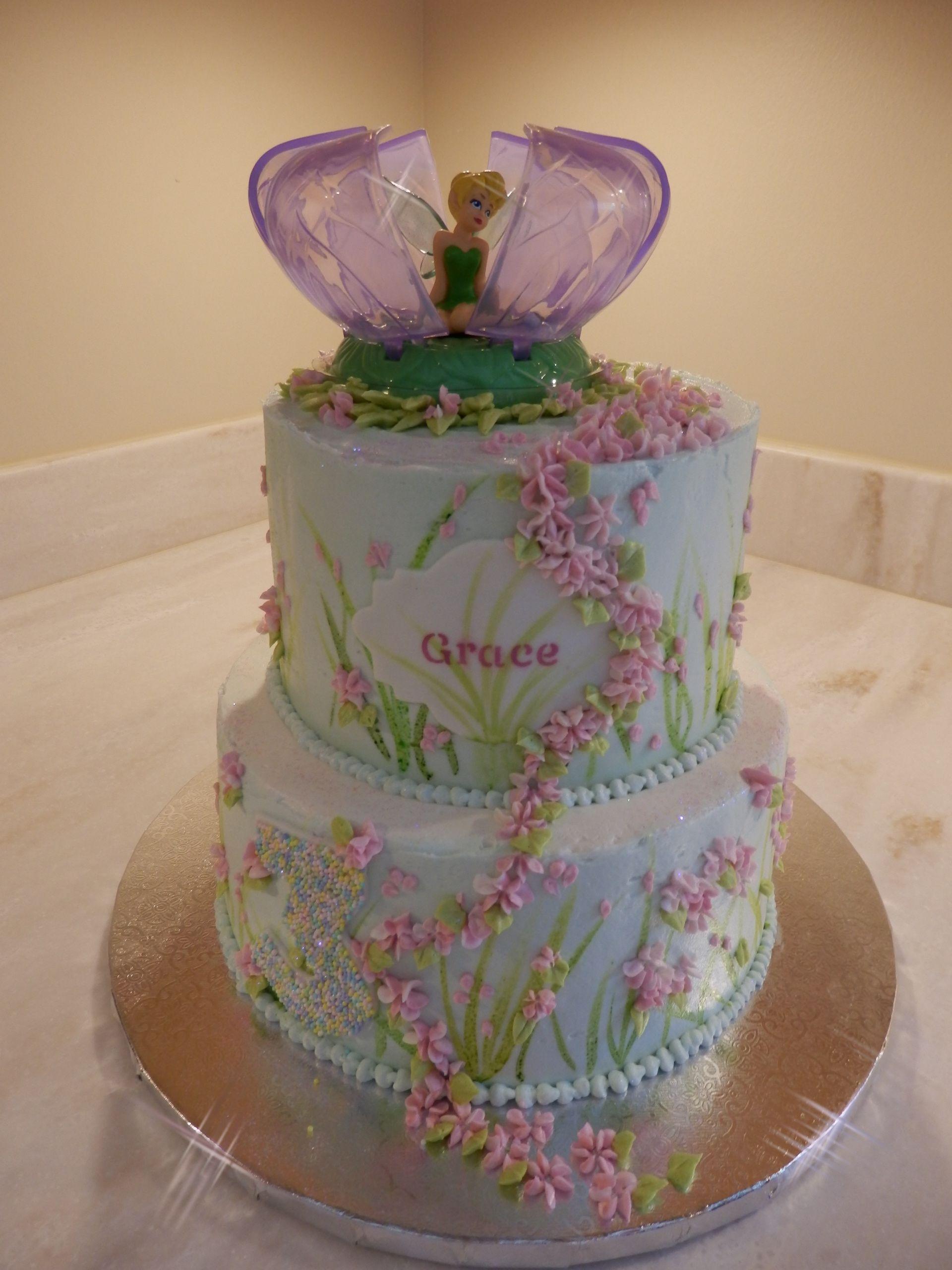 Tinkerbell Pink Cake Buttercream Cake Designs Cake Designs