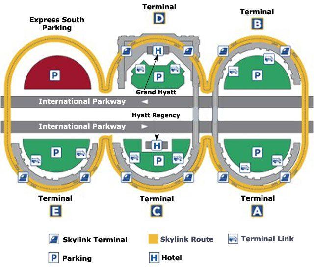 dallas international airport terminal map  Dallas TX Airport Map