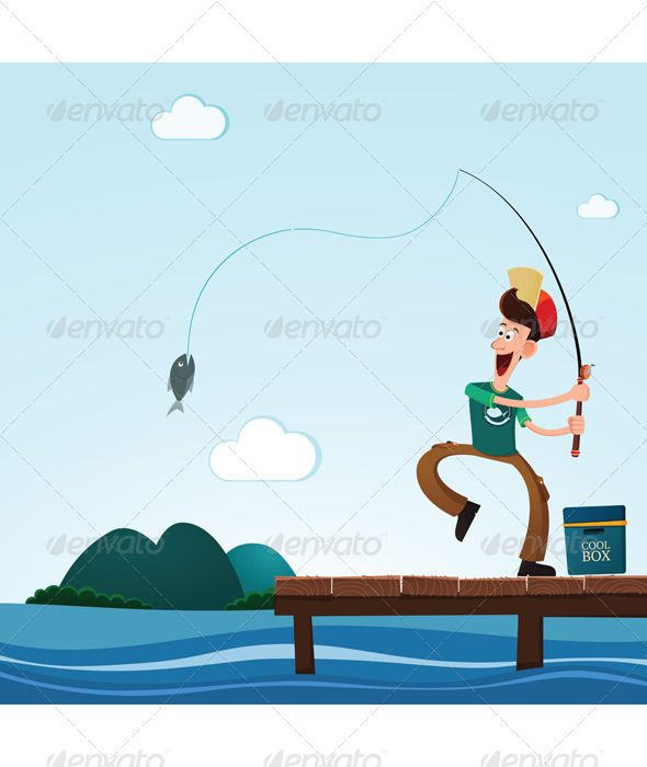 Fishing in the Lake Vector graphics, Font logo and Graphics