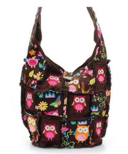 Amazon.com: OWL Patchwork Hipster Bag: Clothing