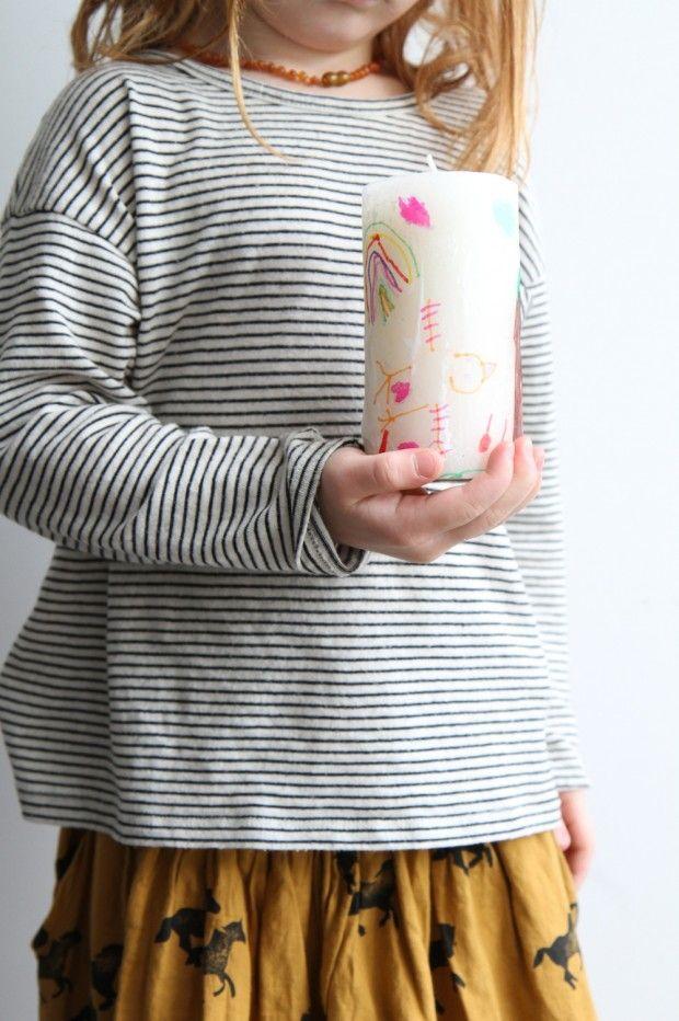 papier de soie et bougie personnalisée cadeaux Pinterest