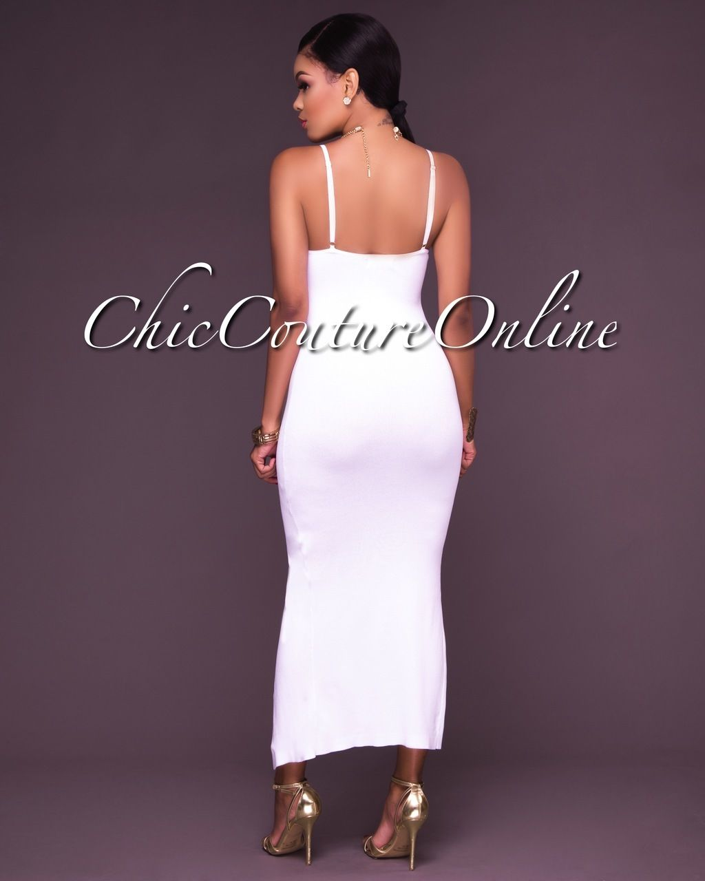 92c872f5192e Chic Couture Online - Janet White Fitted Button Front Cami Midi Dress,  (http: