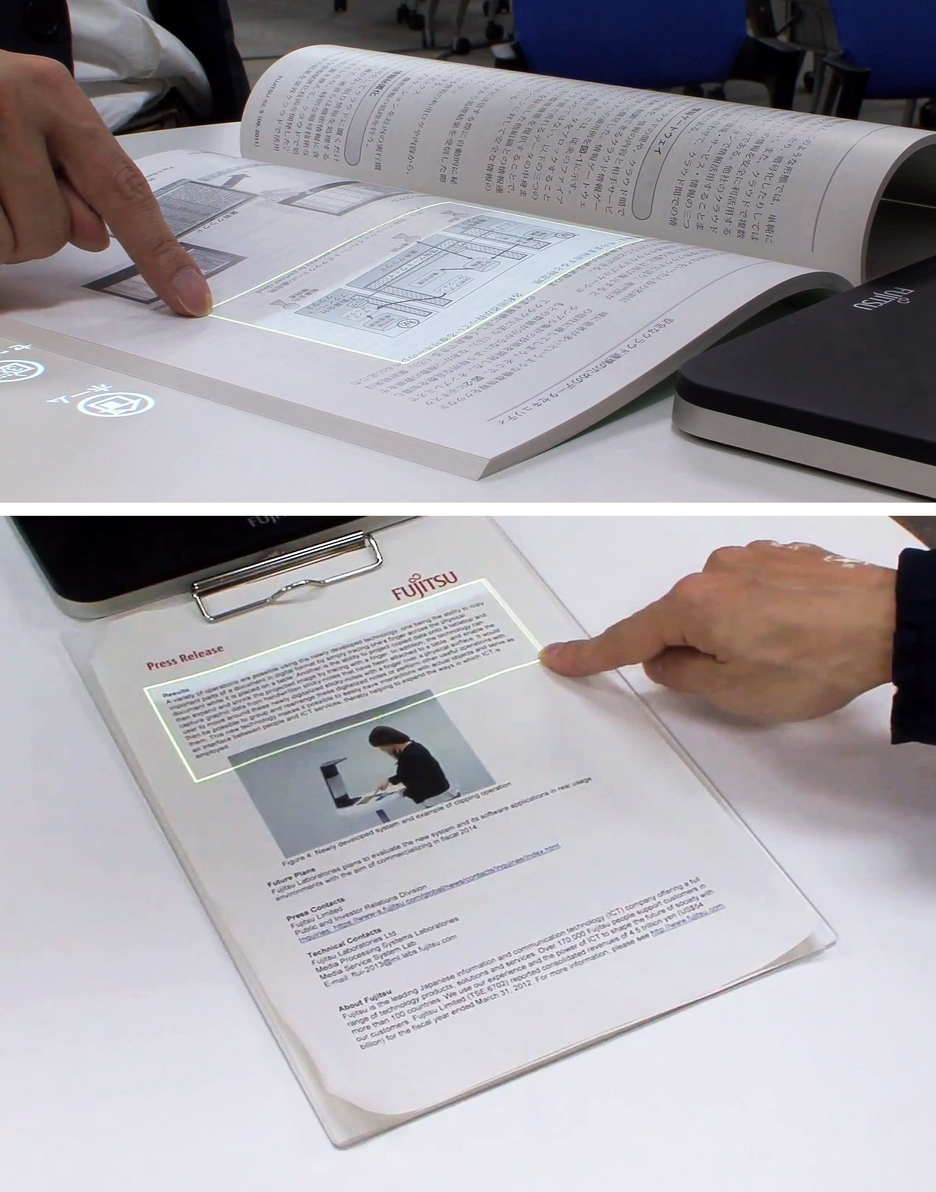 Very cool. This technology turns paper into a touchscreen