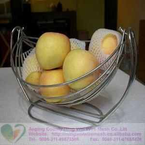 Metal Fruit And Vegetable Holder Iron Wire Fruit Stand Rack Basket .